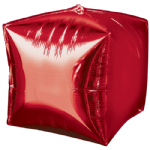 "15"" Red Foil Cubez balloon"